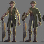 Shield Project Close ups of Character Variations