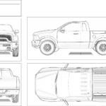 Original Truck Design Template for Decal Planning